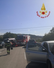 Incidente in superstrada. Arriva l'eliambulanza